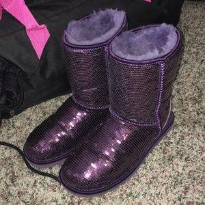 Purple sequin ugg boots